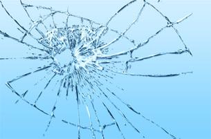 割れたガラスのイラスト素材 [FYI00887429]
