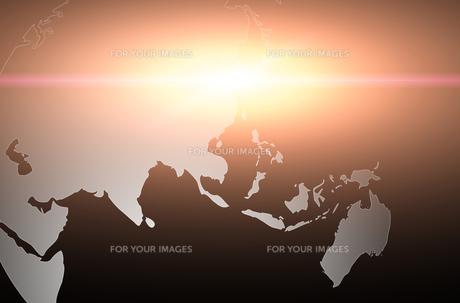 世界地図のイラスト素材 [FYI00887432]