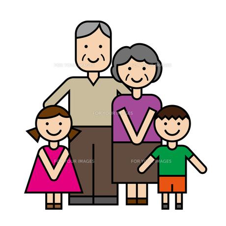 祖父母と孫のイラスト素材 [FYI00887572]