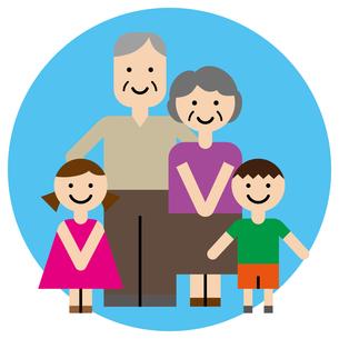 祖父母と孫のイラスト素材 [FYI00887573]
