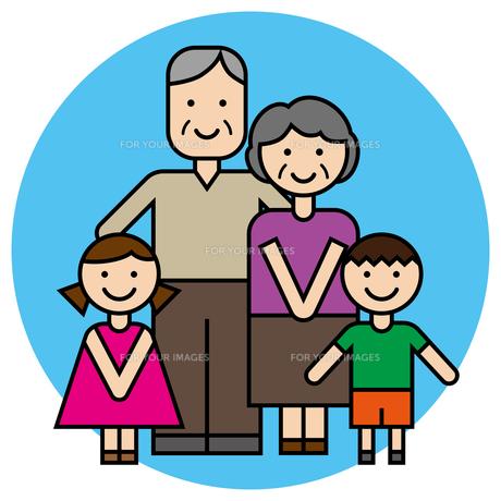 祖父母と孫のイラスト素材 [FYI00887574]
