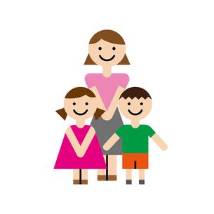 母子家庭のイラスト素材 [FYI00887743]