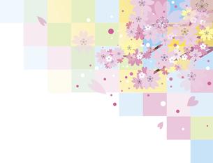 新春の桜の背景のイラスト素材 [FYI00887857]