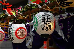 三社祭の提灯の写真素材 [FYI00888510]