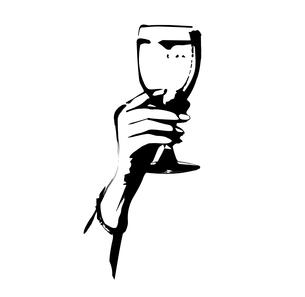 ワイングラスのイラスト素材 [FYI00889323]