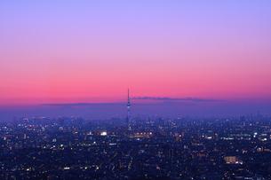 東京の夜景の写真素材 [FYI00889634]