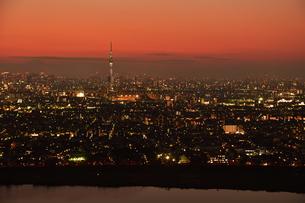 東京の夜景の写真素材 [FYI00889635]