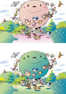 森の動物パーティーのイラスト素材 [FYI00889644]