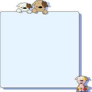 犬の告知板のイラスト素材 [FYI00889712]