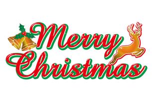 メリークリスマスのロゴ・アイコン|Merry Christmas|トナカイ・ベルのイラスト素材 [FYI00889869]