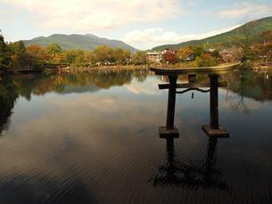 湯布院の秋 金鱗湖の写真素材 [FYI00890284]