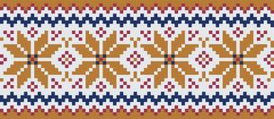 ドットで描いた雪の結晶の模様|セーター柄|クリスマスイメージのイラスト素材 [FYI00890308]