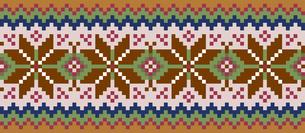 ドットで描いた雪の結晶の模様|セーター柄|クリスマスイメージのイラスト素材 [FYI00890309]