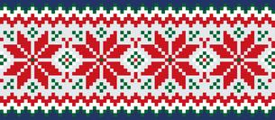 ドットで描いた雪の結晶の模様|セーター柄|クリスマスイメージのイラスト素材 [FYI00890310]