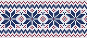 ドットで描いた雪の結晶の模様|セーター柄|クリスマスイメージのイラスト素材 [FYI00890316]