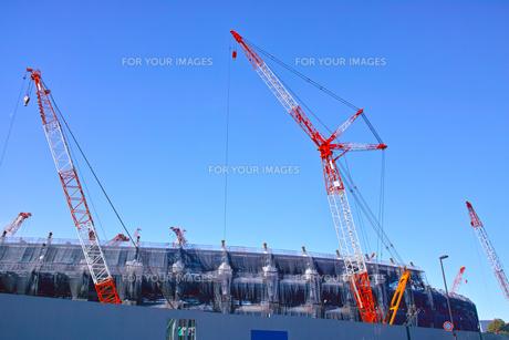 建設中の新国立競技場の写真素材 [FYI00890319]