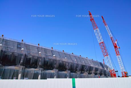建設中の新国立競技場の写真素材 [FYI00890324]