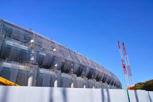 建設中の新国立競技場の写真素材 [FYI00890326]