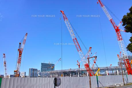 建設中の新国立競技場の写真素材 [FYI00890328]