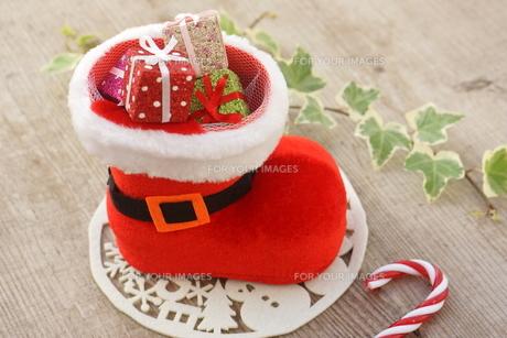 クリスマスブーツの写真素材 [FYI00890489]