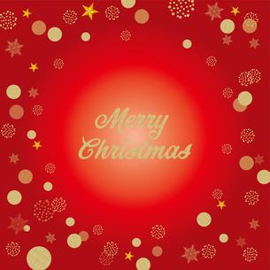 クリスマス向け背景画像 赤の背景|Merry Xmas ロゴのイラスト素材 [FYI00890546]