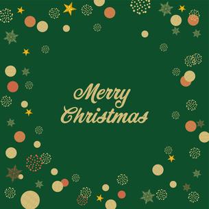 クリスマス向け背景画像 グリーンの背景|Merry Xmas ロゴのイラスト素材 [FYI00890547]