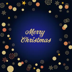 クリスマス向け背景画像 濃紺の背景|Merry Xmas ロゴのイラスト素材 [FYI00890548]