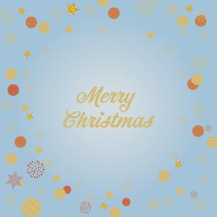 クリスマス向け背景画像 ライトブルーの背景|Merry Xmas ロゴのイラスト素材 [FYI00890549]