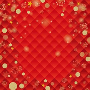 クリスマスのイメージの背景イラスト 赤|雪とオーナメント|Merry Christmasのイラスト素材 [FYI00890666]