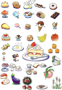 スイーツなど食べ物のイラスト素材 [FYI00890909]
