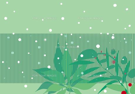 和風な冬景色のイラスト素材 [FYI00890912]
