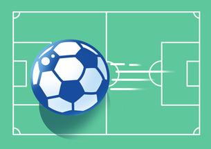 サッカーコートとサッカーボールのイラスト素材 [FYI00890913]