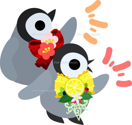 おしゃれで可愛い赤ちゃんペンギンのイラストのイラスト素材 [FYI00891010]