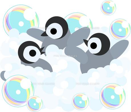 おしゃれで可愛い赤ちゃんペンギンのイラストのイラスト素材 [FYI00891011]