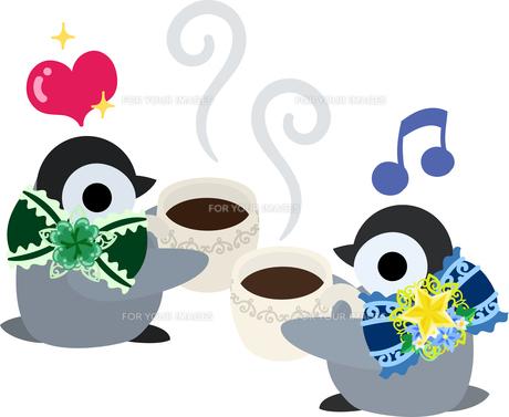 おしゃれで可愛い赤ちゃんペンギンのイラストのイラスト素材 [FYI00891012]