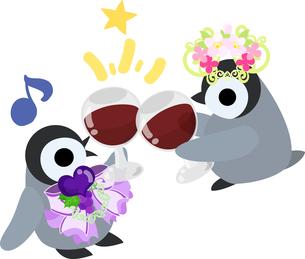 おしゃれで可愛い赤ちゃんペンギンのイラストのイラスト素材 [FYI00891013]