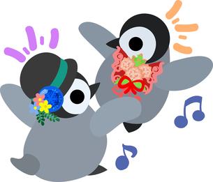 おしゃれで可愛い赤ちゃんペンギンのイラストのイラスト素材 [FYI00891015]