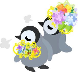おしゃれで可愛い赤ちゃんペンギンのイラストのイラスト素材 [FYI00891016]