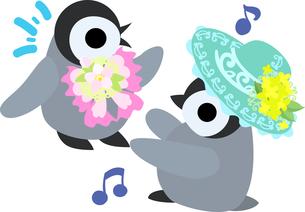 おしゃれで可愛い赤ちゃんペンギンのイラストのイラスト素材 [FYI00891017]