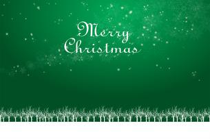 クリスマスのイメージ背景画像+ロゴ|緑色 雪の結晶の天の川と樹氷|Christmas imageのイラスト素材 [FYI00891446]