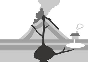火山 図のイラスト素材 [FYI00891597]