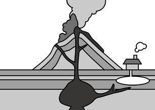 火山 図のイラスト素材 [FYI00891915]