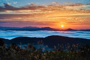 三次市の雲海と朝日の写真素材 [FYI00892520]