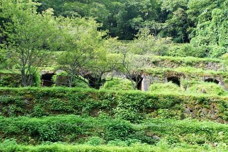 石見銀山の風景 清水谷製錬所跡の写真素材 [FYI00892742]