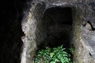 石見銀山の風景 龍源寺間歩(間歩内)の写真素材 [FYI00892754]
