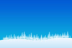 冬の林のイラスト素材 [FYI00894083]