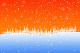 冬の林のイラスト素材 [FYI00894087]
