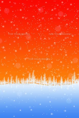 冬の林のイラスト素材 [FYI00894088]