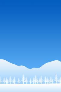 冬の林のイラスト素材 [FYI00894091]