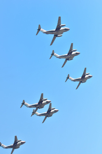 C-1輸送機の編隊の写真素材 [FYI00894340]
